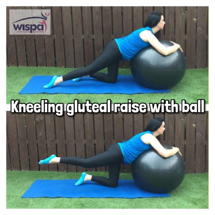 Kneeling Gluteal Raise with Ball
