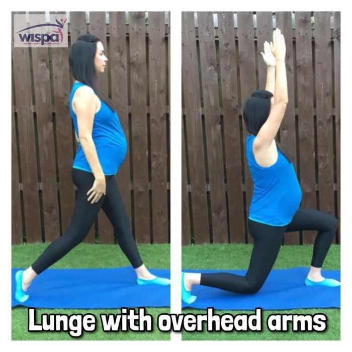 Lunge with Overhead Arms