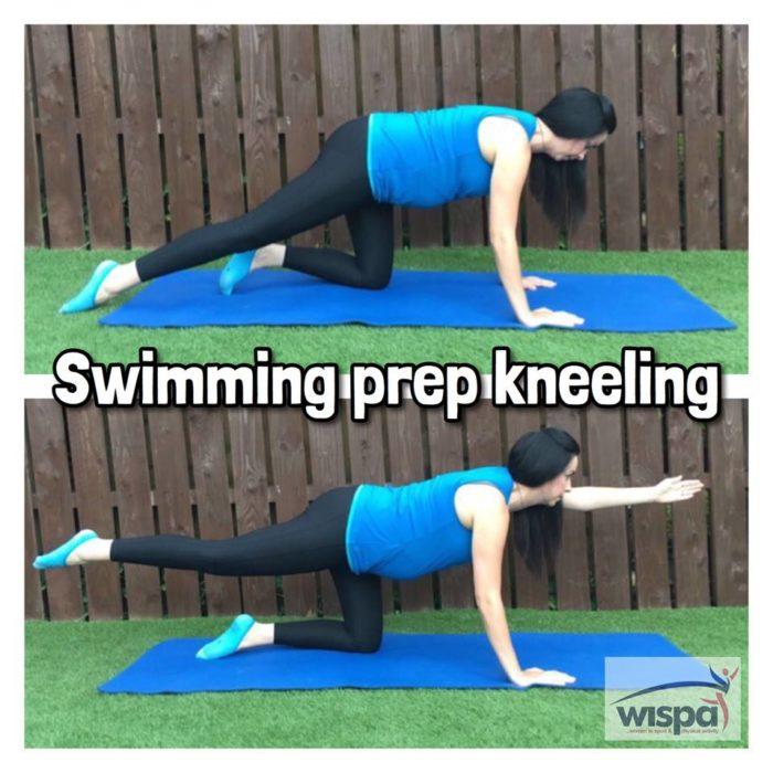 Swimming Prep Kneeling